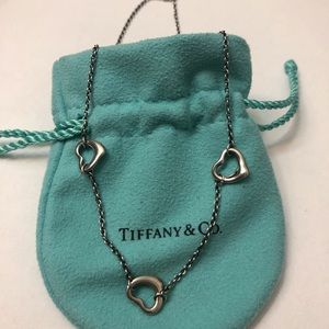 Tiffany & Co Elsa Peretti 3 Open Heart Necklace